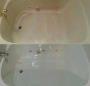 Acrylic Tub before and after refinishing