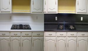 Formica Kitchen Countertops before and after refinishing