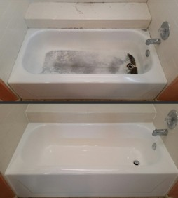 Porcelain Tub Before and After